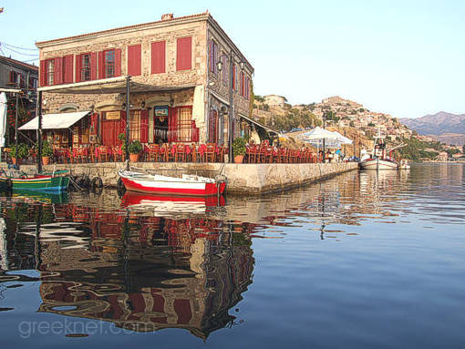 Molivos' picturesque fishing port